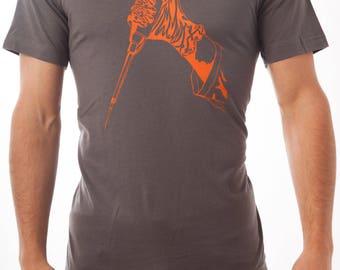 Gloved Hand Wielding Pipette Screen-Printed Science Nerd T-Shirt - Men's & Women's