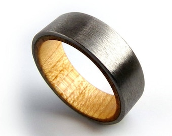 Maple Wood Ring, Titanium Wood Ring, Domestic Wood Ring, American Wood Ring, American Jewelry, Colorado Jewelry, Western Slope