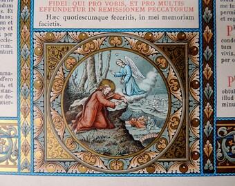 Altar Card Cartagloria Bouasse-Lebel Lithograph