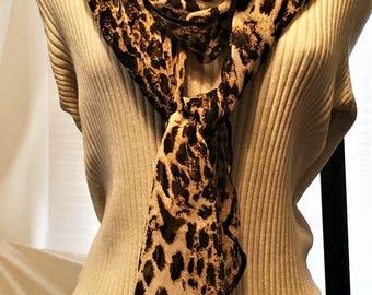 Leopard Scarves, Cheetah Scarves, Animal Print Scarves, Women's Scarves, J'NING Accessories