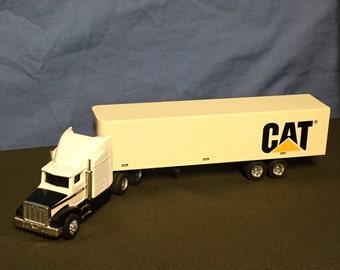 Ertl Peterbilt Truck and Tractor Trailer, Caterpillar, CAT