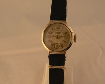 Vintage Ancre Prima by Wagner Ladies Wrist Watch 15J Bauhaus Germany Ca 1930's