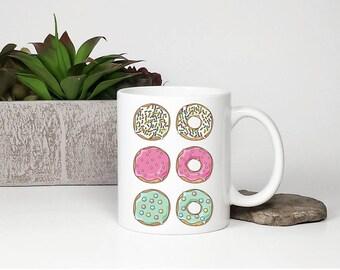 Donut Mug, Donut birthday gift, Doughnut Mug, Donut gifts, Donut with sprinkles gift, Mug with donuts, Cute Donut Mug, Foodie mug