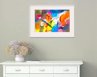 Contemporary Wall Art, Modern Art Abstract Painting, Abstract Art on Paper, Original Abstract Acrylic Painting, Modern Art Work, Fine Art