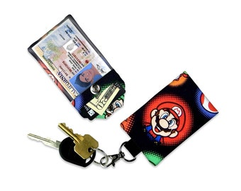 Nintendo Super Mario Bowser Wallet Small Wallet Card Holder Clear ID Holder Accessory Mini Wallet ID Badge Credit Card Wallet Luggage Tag
