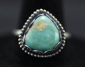 Blue Turquoise Ring US Size 7.5
