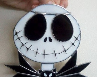 Stained Glass Nightmare Before Christmas (Jack Skellington)