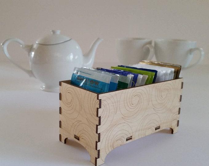 Tea Box, Decorative Tea Box, Triple Fibonacci Swirl Design