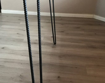 Custom Rebar Hairpin Legs 3/8 inch or 1/2 inch Free Shipping Set of 4 Table Legs Coffee Table Legs Metal Legs Steel Legs Furniture Legs