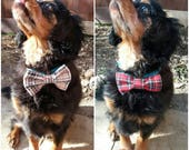 Dog bows, Tartan, Burberry, Bow Ties, Dog Accessory,Red, Beige, Brown, Tuxedo Bow, Uk