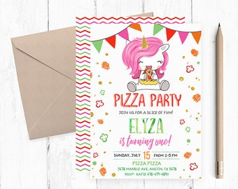 Pizza Party Invitation, Pizza Party Invitations, Pizza Birthday Party Invitations, Pizza Invites, Pizza Invite, Pizza Birthday Invites,