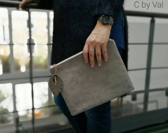 Nude clutch - Orange - nude
