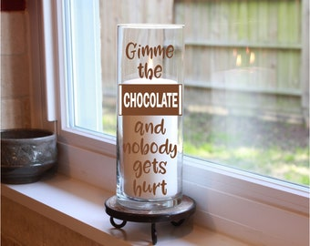 Chocolate Gifts, Chocolate Candles, Chocolate Lover Gift, Chocolate Gifts for Mom, Chocolate Quote, Chocolate Lover, Chocolate Birthday