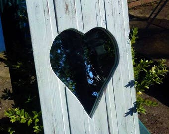 Blue Heart Handmade Mirror