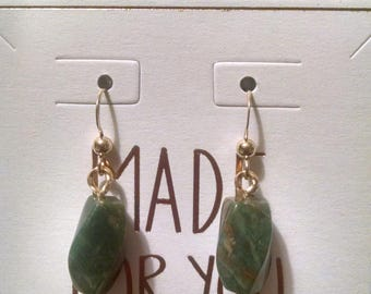 Green Tourmaline Gold Filled Earrings