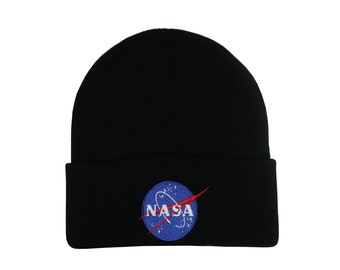 NASA Embroidered Beanie cap nasa beanie