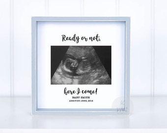 Sonogram frame etsy sonogram frame ultrasound frame ultrasound gift gender reveal idea new dad gift sonogram frame new dad negle Images