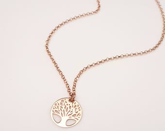 Tree of Life Necklace Rose Gold Tree of Life Necklace Tree of Life Tree of Life Charm Tree of Life Pendant Tree of Life Tree GioiePreziose