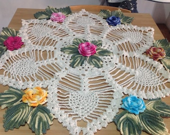 Hand worked tablecloth very decorative