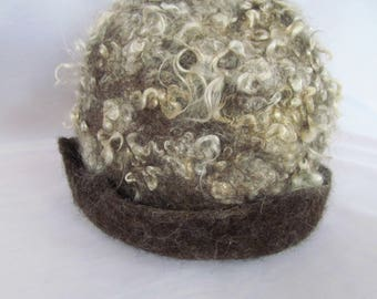 Felted Hat with Locks