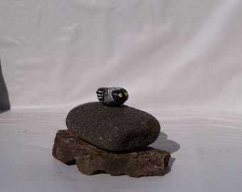 Pigeons, painted pebble, fairy garden miniatures, fairy garden, painted rocks, animals,birds, earthspalette