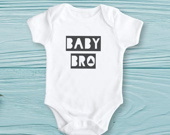 Baby Brother Bodysuit - Baby Brother Onesie, Baby Bro, New Sibling Shirt, Modern Baby Gift, Baby Shower, Baby Boy Clothing, Cute Sibling Set