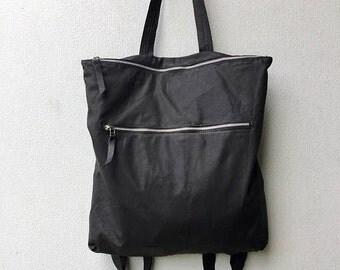 Large black zipper bag, Large zipper bag, Large black backpackg,Waterproof backpack