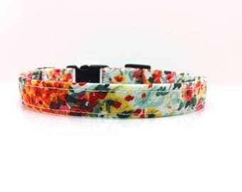 Cat Collar, Floral Cat Collar, Breakaway Cat Collar, Kitten Collar, #CAT