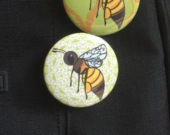 Honey bee pin 2.25 inch