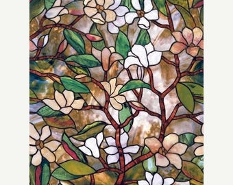 Branches with flowers Cross Stitch Pattern tree stained pattern cross stitch -220 x 331 stitches- INSTANT Download - B716