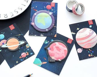 Space & Planets Sticky Notes - Memo/Post-It/Tabs
