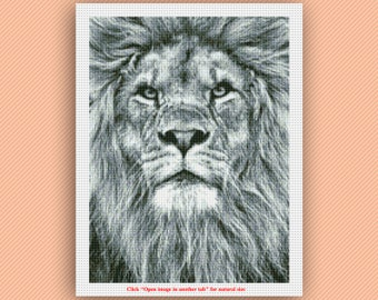 Lion Cross Stitch Pattern (Size 1)