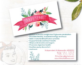 """plexus Business Card """"Ribbons and Flowers"""""""