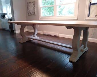 The Noah   Antique Reclaimed Barn Oak Dining Table