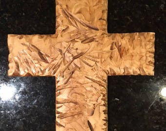 Distressed, solid wood crosses