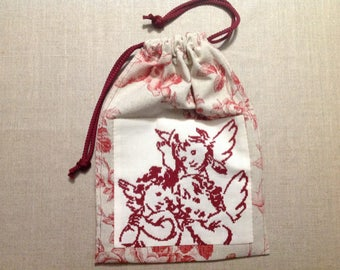"lingerie/jewelry pouch: ""Angels"""
