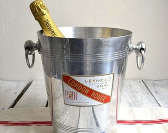 25% SALE Vintage French Cordon Rouge G.H.Mumm & Co Champagne Ice Bucket Wine Cooler