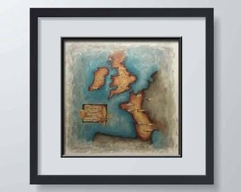 Plantagenet Bretagne - Map Series Fine Art Print