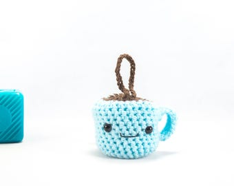 Car accessory, coffee cup, Crochet Cup Of Coffee, crochet cup, crochet, amigurumi, crochet cup, coffee addiction