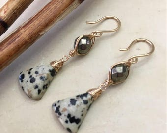 Dalmatian Jasper Earrings