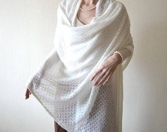 christmas in july wedding shawl wrap wife gifts|for|her knit shawl White shawl gifts|for|mom Knit wrap Lace shawl Bridal shawl Womens shawl