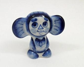 GZHEL RUSSIAN Porcelain Figurine CHEBURASHKA #0109