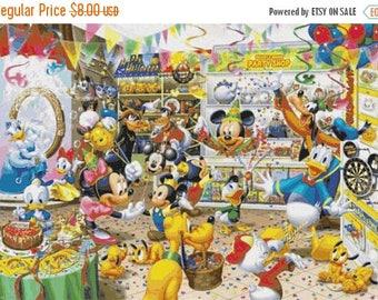 "Disney party cross stitch disney Pattern needlecraft disney needlepoint needlecraft pdf chart - 35.00"" x 24.43"" - L1402"