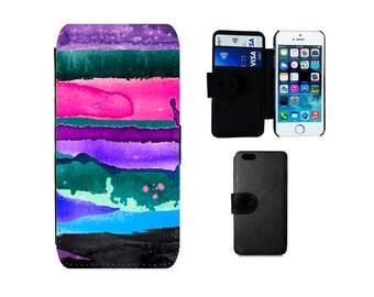 Wallet phone case Samsung Galaxy S8 Plus, S7 S6 Edge, S4 S5 Mini, Note 5, iPhone 6, 6S Plus, X 8 7, SE, 5S, 5C, 5, 4S. Artistic case. F333
