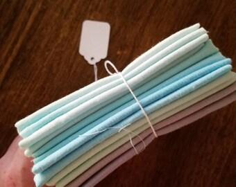Hand Dyed Fat Quarters, Pastel Fat Quarters