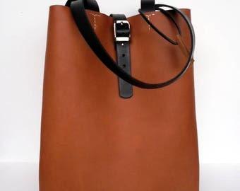 Brown Leather Tote Bag - Brown Leather Bag - Brown Leather Bag, Brown Leather Tote,