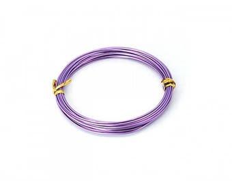 10 m 2mm lilac Aluminium wire