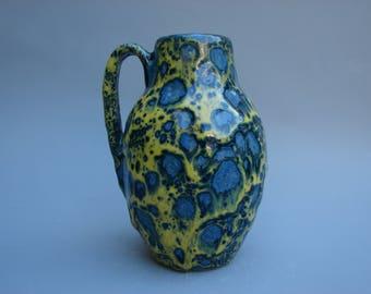 Gorgeous Fat lava Scheurich vase vintage German ceramics handled vase 414