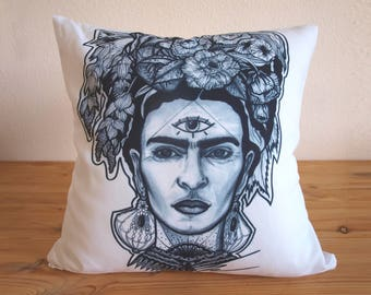 frida kahlo cushion etsy. Black Bedroom Furniture Sets. Home Design Ideas