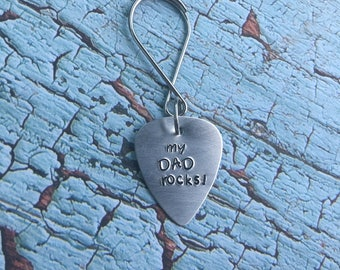 Dad Rocks Keychain- Father's Day- My Dad Rocks!